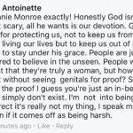 Has anyone seen god's genitals?